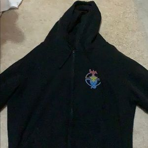 Black Pokémon Go Zip up hoodie